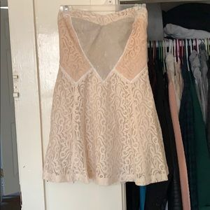 Vintage lace mini dress